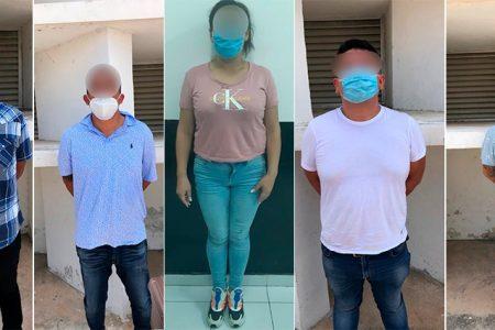 Caen tres mexiquenses, un cubano y una colombiana por robo en el sur de Mérida