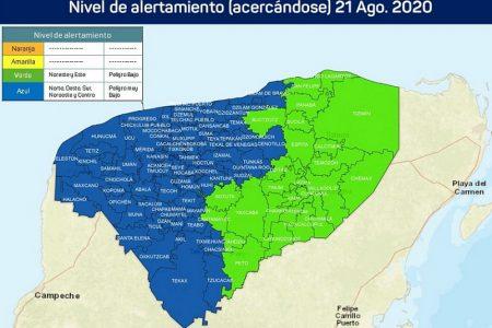 Primeras alertas ciclónicas en Yucatán: verde para el oriente y azul en el resto