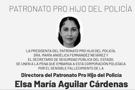 Fallece la directora del Patronato Pro Hijo del Policía de la SSP Yucatán