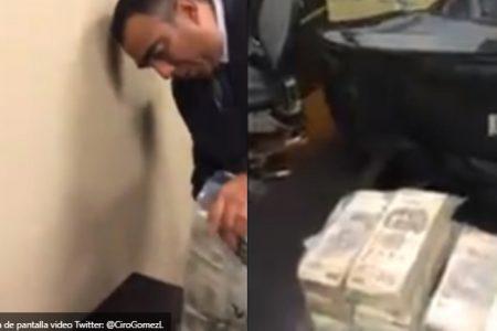 Filtran video de ex funcionarios del Senado recibiendo bolsas de billetes