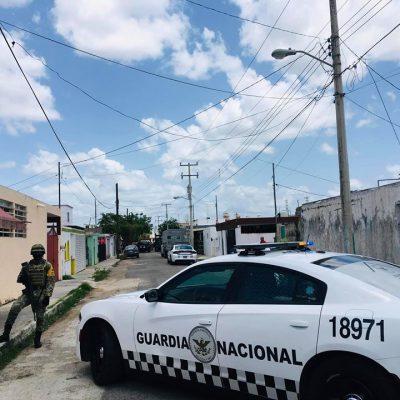 Operativo de la Guardia Nacional en Fraccionamiento del Parque
