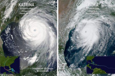Huracán Laura 'roza' la categoría 5 antes de golpear en Estados Unidos