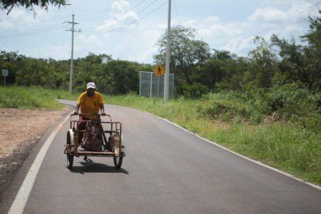 Reconstruyen carretera que llevaba 30 años sin intervención en Tekax