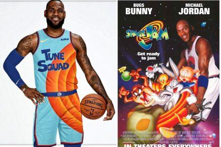 LeBron James presume el uniforme que usará junto a Bugs Bunny, pero en la NBA le va mal