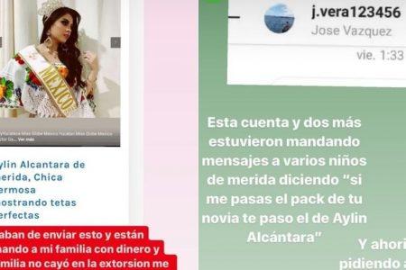 Intentan extorsionar a reina de belleza de Yucatán con montaje de fotos íntimas
