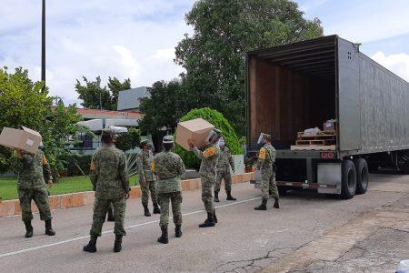 Ejército envía a Mérida siete toneladas de equipo médico para atender Covid-19