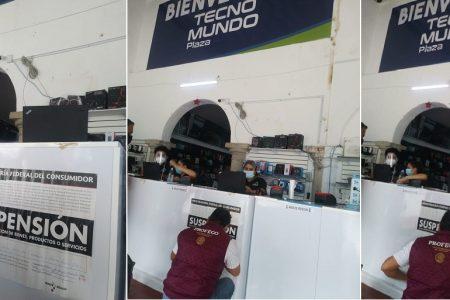Profeco suspende la tienda Tecno Mundo Plaza, en el centro de Mérida