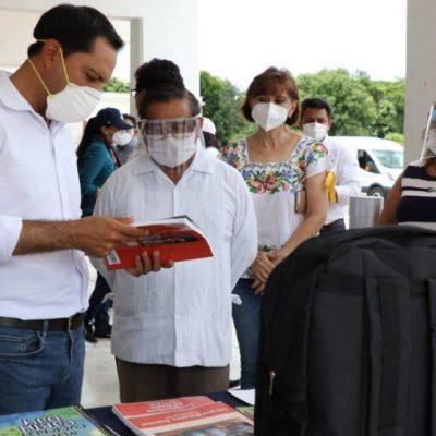 Impulso escolar llega a Suma de Hidalgo y Muxupip