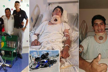 Respira tranquilo Axel: aseguradora responde por el accidente de moto