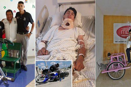 Aseguradora abandona en el hospital a joven estudiante atropellado en su moto