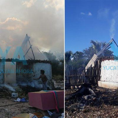 Detienen a sujeto por incendiar una casa maya en Maní