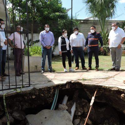 Funcionaria federal constata que Cristóbal dejó graves daños en Yucatán