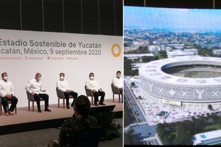 Presentan el Estadio Sostenible de Yucatán, será el mejor de todo México