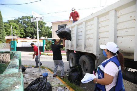 Buena participación de la gente en la jornada de descacharrización en Mérida