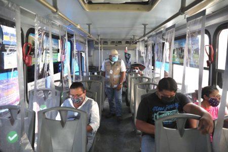 Inspectores de transporte refuerzan operativo en el centro de Mérida
