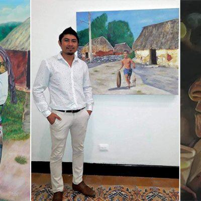 Ángel Canul, el destacado pintor de Tixkokob que retrata las tradiciones yucatecas