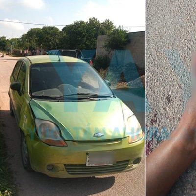 Se le desprende un dedo a ciclista atropellada en Kanasín