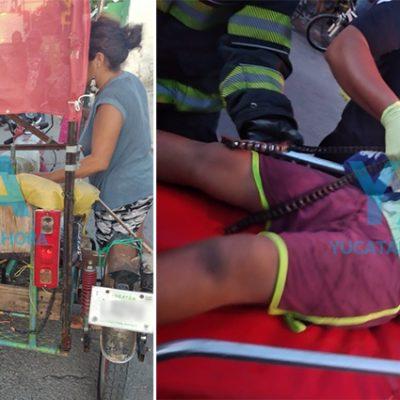 Terrible accidente de un niño en un mototaxi, en el sur de Mérida