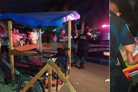 Mototaxista ebrio se accidenta con dos pasajeras
