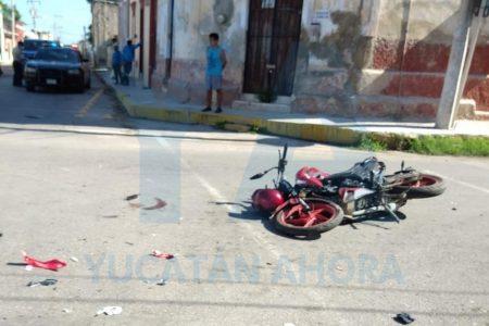 Camión de la ACY mandó a volar a motociclista que no respetó un alto