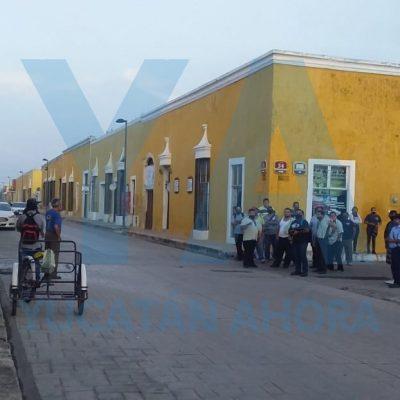 Paro de choferes de taxis colectivos en Izamal