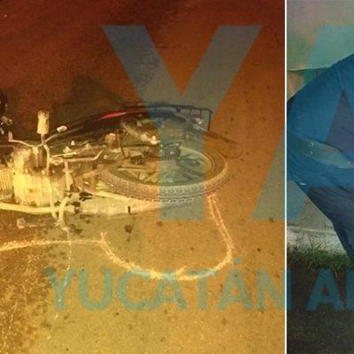 Otro ebrio accidentado en Umán, pero con motocicleta