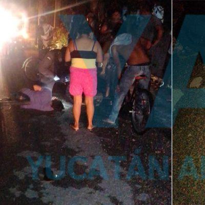 Huye luego de atropellar a ciclista ebrio en Umán