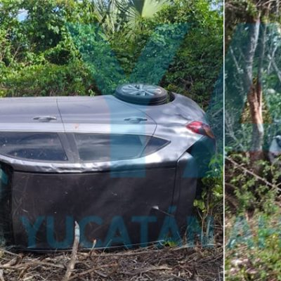 Conductora provoca aparatoso accidente por no medir su distancia
