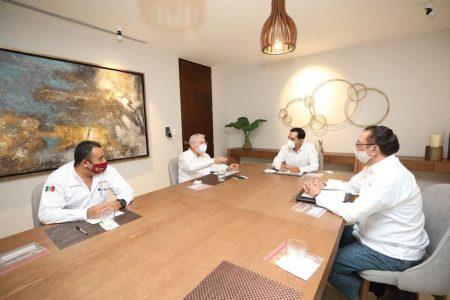 Mauricio Vila y el titular de la SCT revisan avances de proyectos de infraestructura en Yucatán