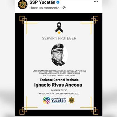 Fallece el teniente coronel retirado Ignacio Rivas Ancona