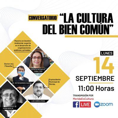La cultura del bien común será tema de próximo conversatorio