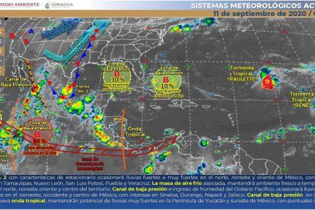 Pronostican lluvias fuertes para gran parte de Yucatán