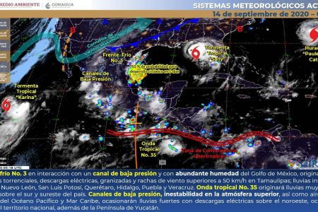 Tormenta tropical Sally 'empuja' lluvias hacia Yucatán