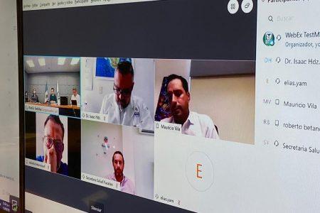 IMSS y Gobierno de Yucatán revisan avances de la reconversión hospitalaria