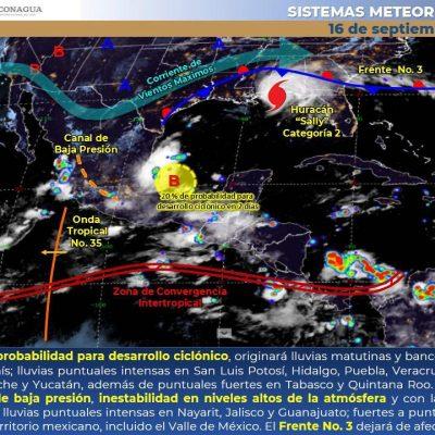 Este miércoles seguirán las tormentas fuertes en Yucatán