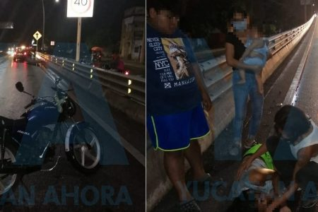 Abuelo ebrio derrapa en moto y deja lesionado a su nieto, un bebe de 10 meses