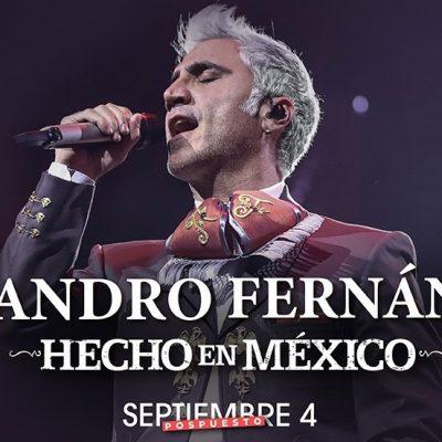 Reprograman para 2021 los conciertos de Alejandro Fernández en Mérida y Cancún