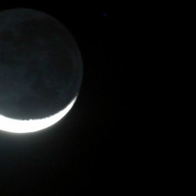 Previo al Grito, beso celestial entre la Luna y Venus