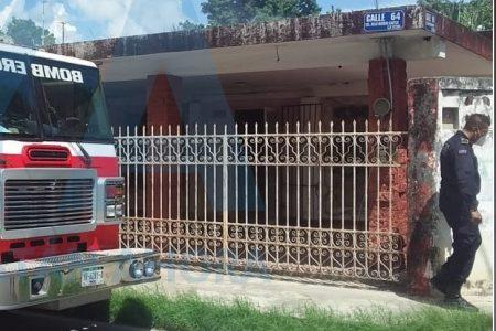 Incendio en una vivienda de la Delio Moreno Cantón