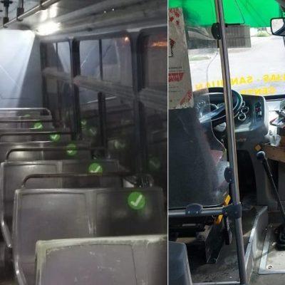Refuerzan medidas para evitar contagios de Covid-19 en transporte público