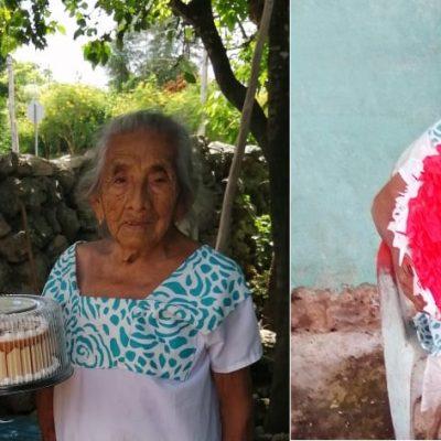 Con envidiable salud, Katita celebra sus 101 años en la Villa de Espita