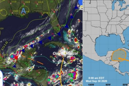 Se gestan las condiciones para el choque del frente frío y la baja presión en Yucatán