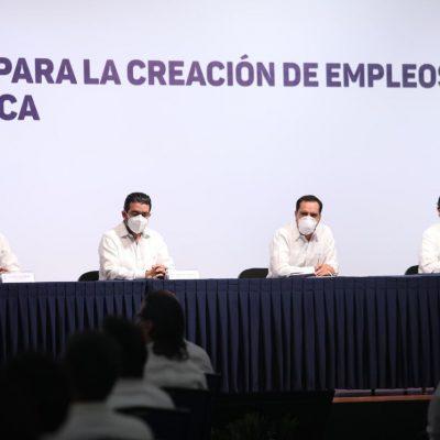 Con obras de infraestructura impulsan el empleo en Yucatán