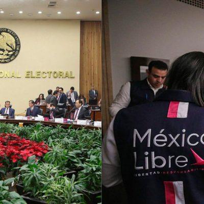 El INE avala en comisiones registro de México Libre y Encuentro Solidario