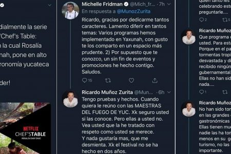 Michelle Fridman pretendió colgarse del logro de una cocinera maya en Netflix; un chef la ubicó en su lugar