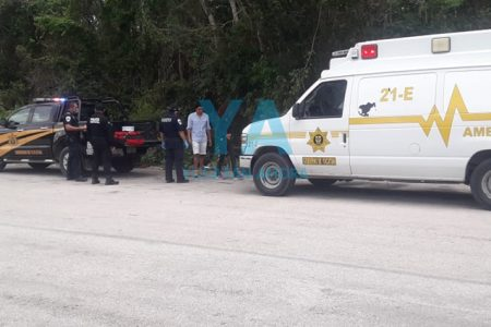 Derrapa una motociclista en la Chemax-Cobá