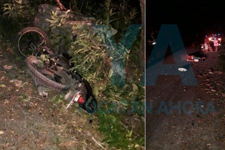 Choque entre motocicletas deja tres lesionados; uno grave
