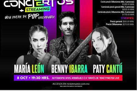 Benny Ibarra, Paty Cantú y María León, en el primer autoconcierto de Ocesa
