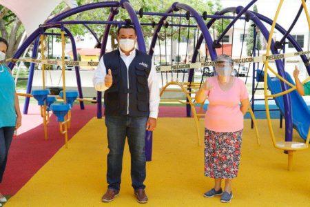 Renán Barrera entrega la rehabilitación del parque El Triángulo de Brisas
