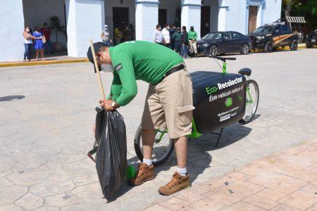Llega a Yucatán la bicicleta eco recolectora de residuos sólidos